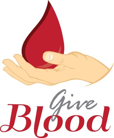 Show your support for donating blood to save lives. 向量圖像