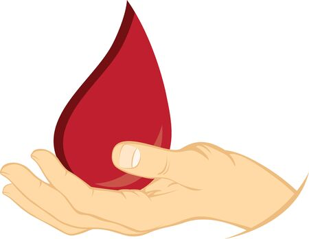 Show your support for donating blood to save lives. Illusztráció