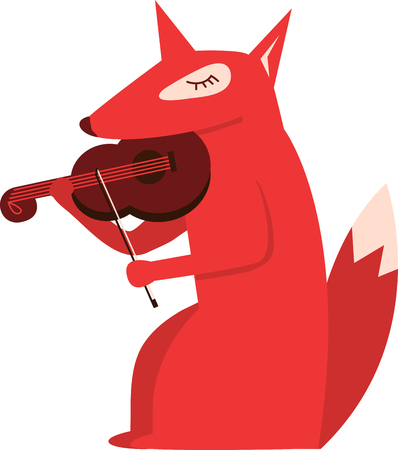 violins: Cute musical animals will look good in a childs room.