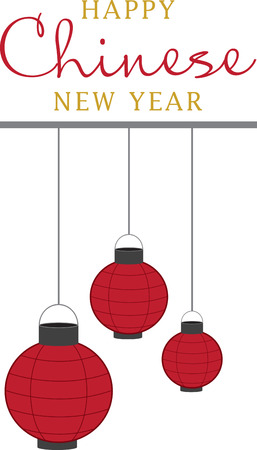 Celebrate Chinese new year with colorful lanterns.