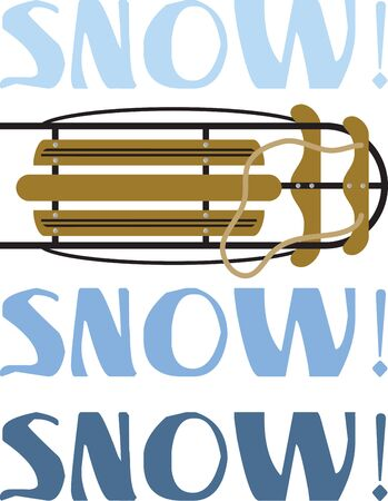 Make a fun winter project with a great snow sled.