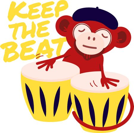 Cute musical animals will look good in a child's room.  イラスト・ベクター素材