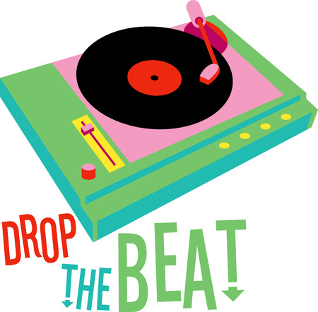 turntables: Show a love for music with a design of great electronics. Illustration