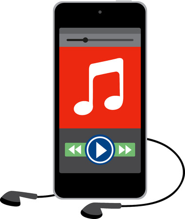 Show a love for music with a design of great electronics. Иллюстрация