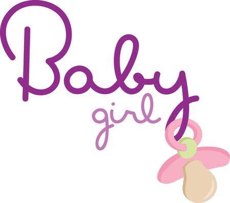 Use this design on a project for a new baby gift.