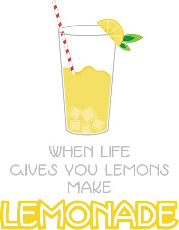 A summer design will look cool and refreshing with lemonade.