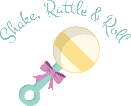 A lovely rattle will make a great new baby design. Illustration