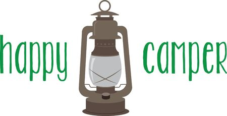 Accent a camping project with this classic lantern.