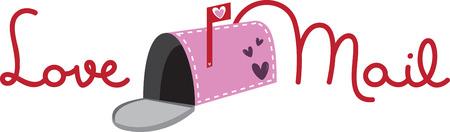 Send a love letter with an open mailbox. Illusztráció