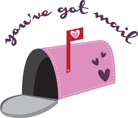 you've got mail: Send a love letter with an open mailbox. Illustration