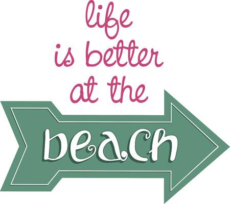 A great beach design. Иллюстрация