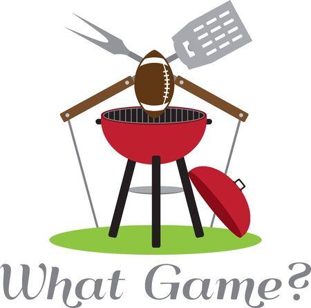 charcoal grill: Support your favorite team with a sporting design.