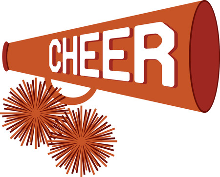 Support a favorite sports team with a cheerleader design.