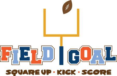 sport team: Steun een favoriete sportclub met een voetbal design. Stock Illustratie