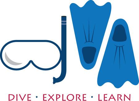 swimmer's: Swimmers will enjoy some swim gear. Illustration