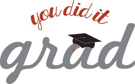 学生の卒業のギフトを与えます。