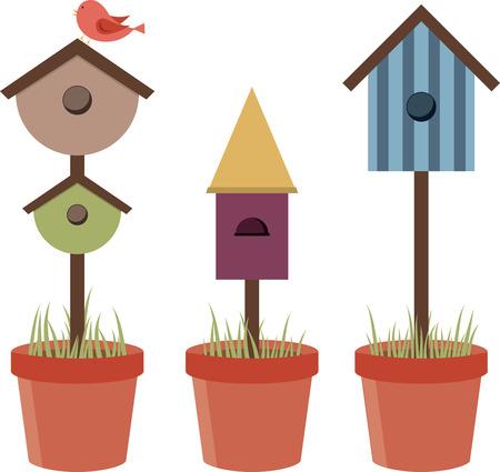 Diese Vogelhäuser auf Handtücher großartig aussehen. Standard-Bild - 42409379