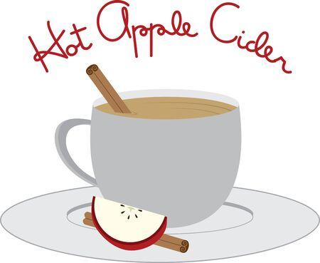 Gebruik deze warme mok van cider voor uw volgende project vallen. Stock Illustratie