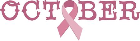 Remember this ribbon design for Breast Cancer Awareness month every October.