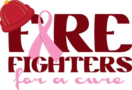 Firefighters can use this design to help raise awareness for breast cancer.