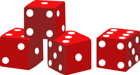 Game players will like these dice to gamble with. Stock Illustratie