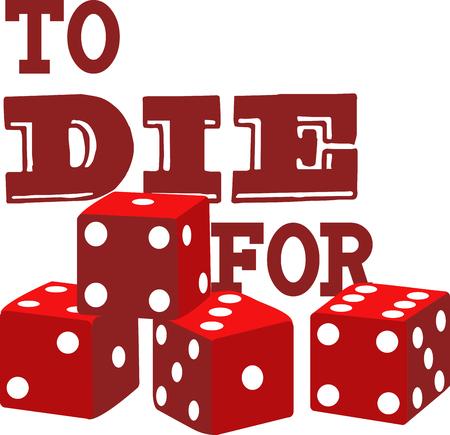 Les joueurs de jeux aimeront ces dés pour jouer avec. Banque d'images - 42409237