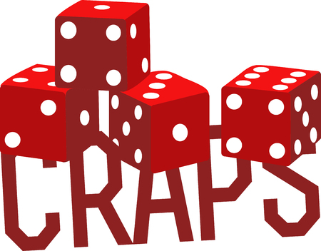 gamble: Game players will like these dice to gamble with. Illustration