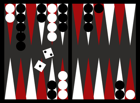 Game players will like to have a great backgammon board. Illustration
