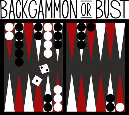 Les joueurs de jeux apprécieront d'avoir un grand plateau de backgammon. Banque d'images - 42409077