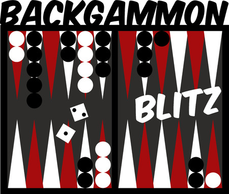 backgammon: Game players will like to have a great backgammon board. Illustration