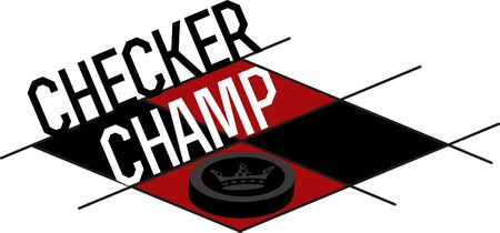 checkers: Game players will like to have a great checkers board. Illustration