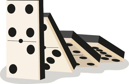 Game players will like to have a great set of dominos. Ilustração