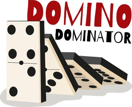 Game players will like to have a great set of dominos. Illusztráció