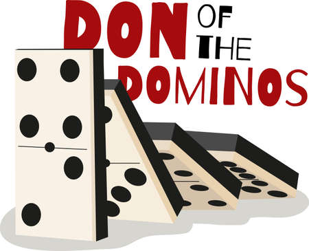 Game players will like to have a great set of dominos. Çizim