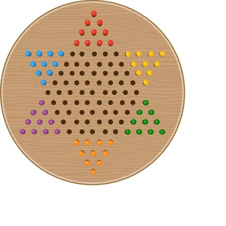 Game players will like to have a great game of Chinese checkers.