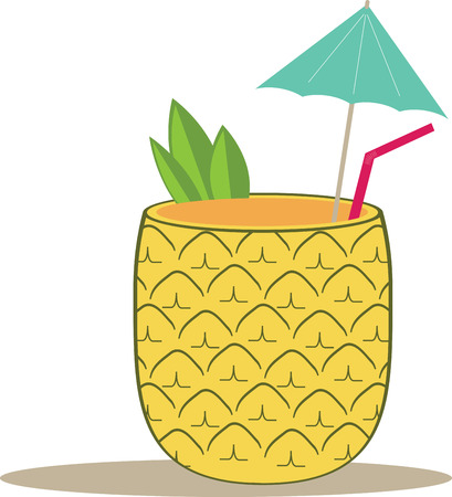 tropical drink: Spice up a summer time project with a tropical drink. Illustration