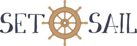 boating: Make a lovely boating design for a sailing project.