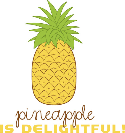 Spice up een zomer tijd project met een tropische ananas. Stock Illustratie