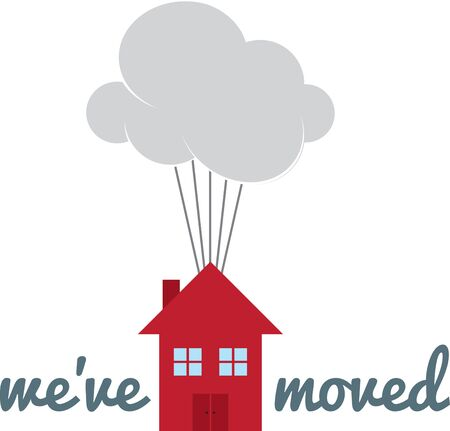 A fun design to move your home. Illusztráció
