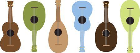음악 애호가들은 ukuele 프로젝트를 즐깁니다. 일러스트