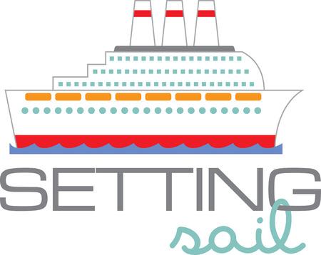 Een cruise is het perfecte ontwerp voor een vakantieproject.