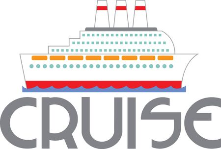 ocean liner: A cruise is the perfect design for a vacation project. Illustration