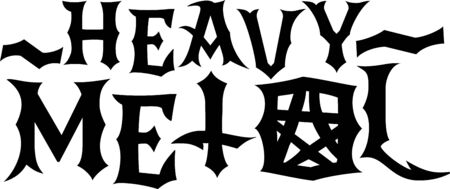 heavy: Metal word and symbols for music fans.
