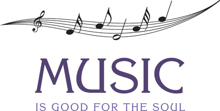 soul music: Strike the right chord with this contemporary design on your music instrument cover or just on any clothing. Illustration