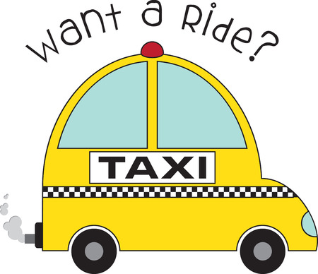Use this Taxi cab design as a fun gift for your favorite taxi driver. Ilustrace