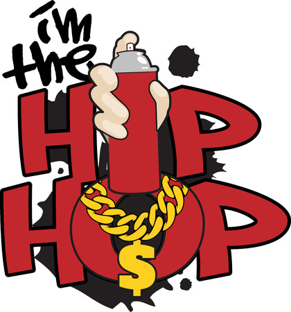 Hip Hop words and symbols for music fans.