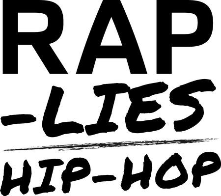 black rapper: Rap word and saying for music fans. Illustration