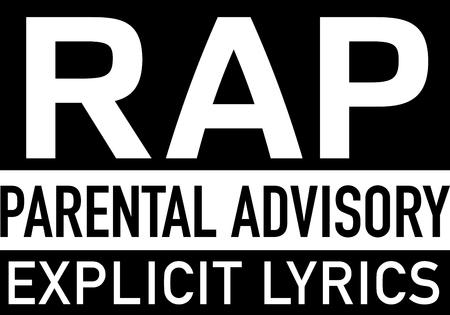 esplicito: Parola Rap e dicendo per gli appassionati di musica. Vettoriali