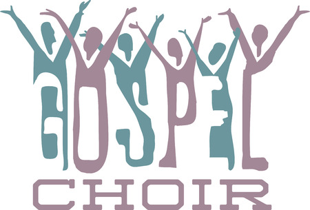 Gospel word and praising choir for music fans.