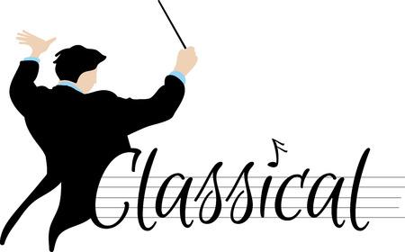 orquesta clasica: Palabra Clásica y director de orquesta de aficionados a la música.